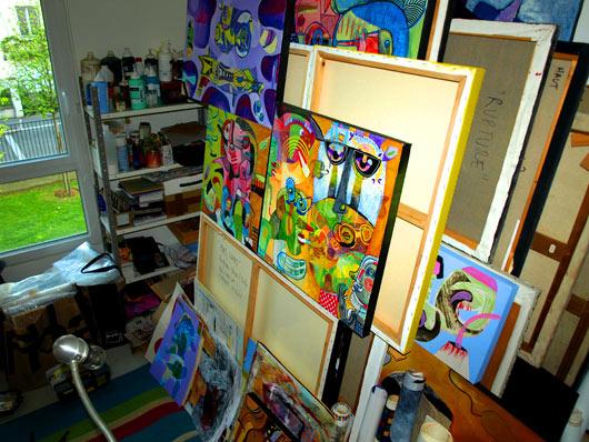eric meyer, peinture, atelier