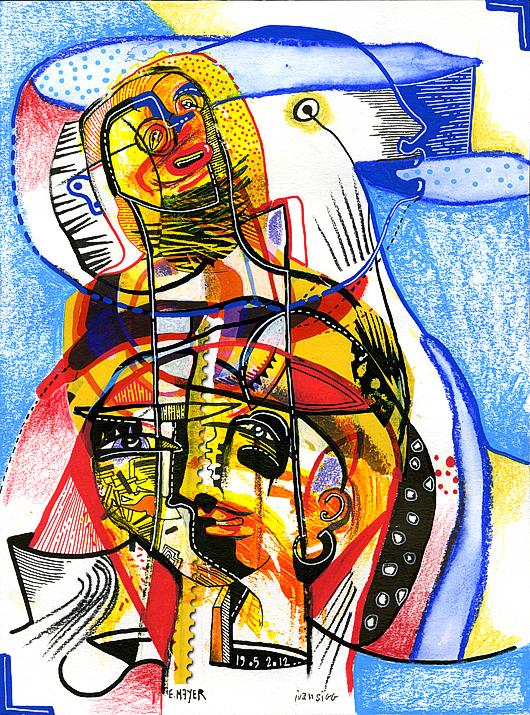 eric meyer, kuu, puls'art, art, peinture, dessin, oeuvre collective
