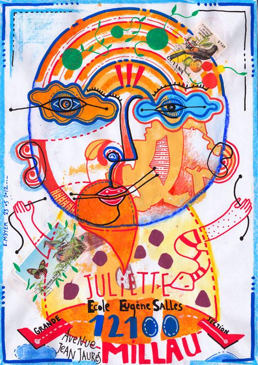 eric meyer, peinture, dessin, art, art postal