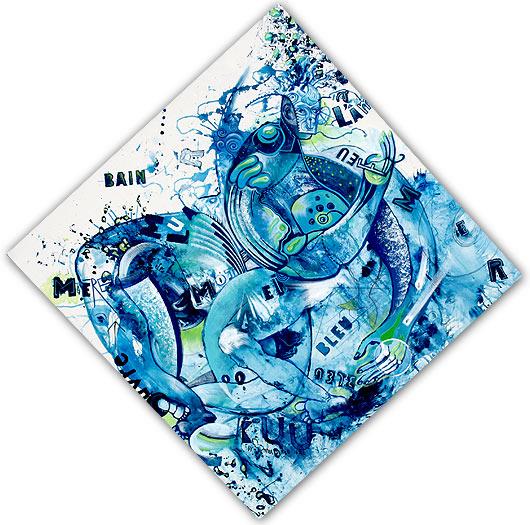 eric meyer, peinture, dessin, art, kuu, peinture collective, art postal