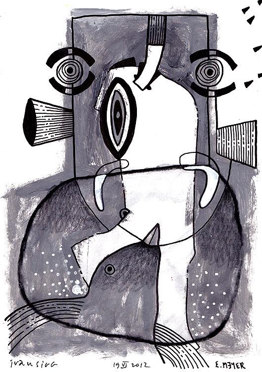 eric meyer, kuu, dessin, peinture, oeuvre collective