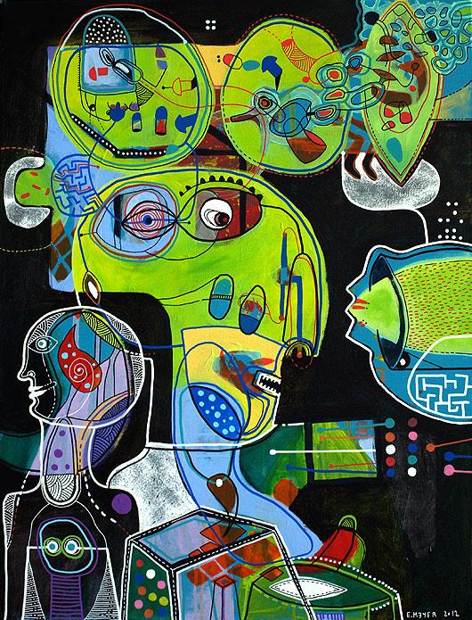 eric meyer, peinture, art, figuration libre