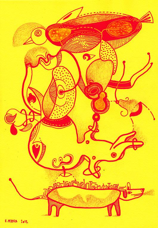 eric meyer, dessin contemporain, art, peinture, canson