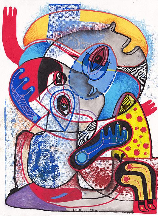 eric meyer, peinture, dessin, figuration, contemporain, libre