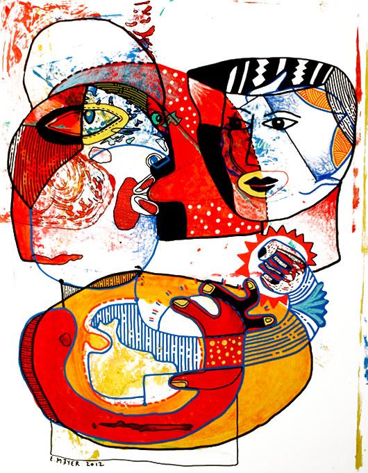 Eric Meyer,peinture,art contemporain,figuration,feutre poscas