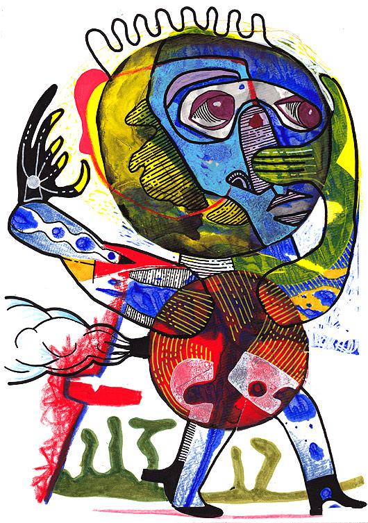 revue KUU, art expérimentale, eric meyer, salon de la revue, peinture collective