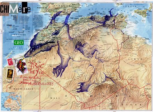 eric meyer, art posté, art postal, tunisie, dessin contemporain, figuration, chimère, didier gosselin, feutres poscas, peinture, dessin
