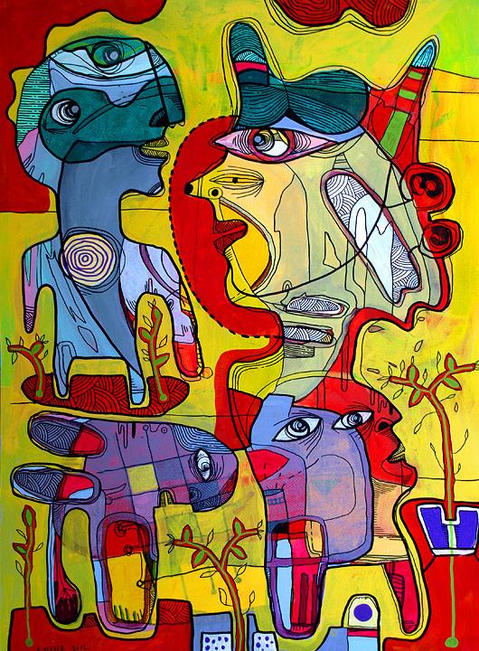 eric meyer, peinture, figuration, libre, dessin, poscas, art contemporain, dessin