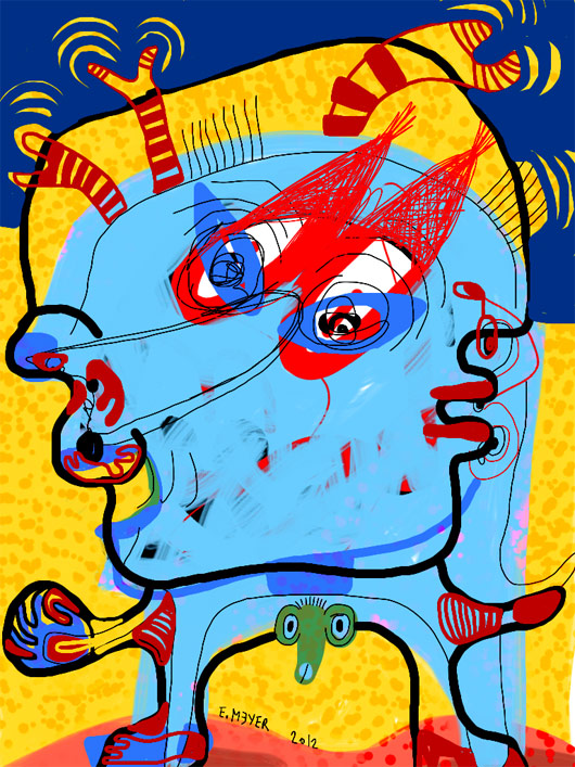 eric meyer, digital painting, iPad, dessin contemporain, figuration libre, art contemporain, peinture