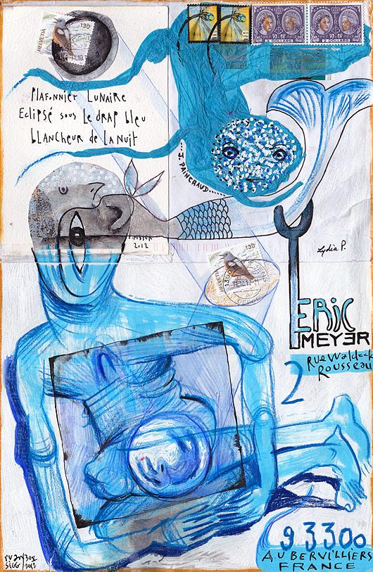 haiku, eric meyer, art postal, mail art, dessin, peinture, poésie