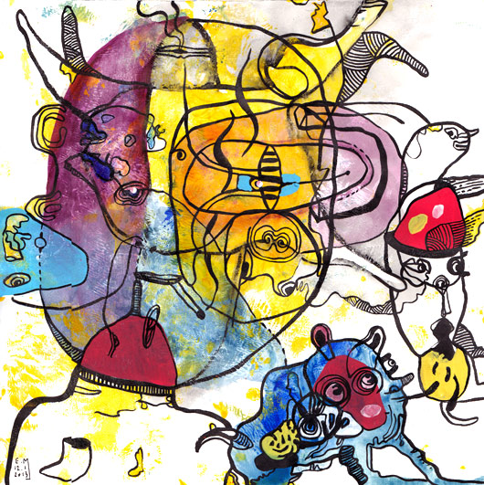 eric meyer, dessin contemporain, craies, neocolor, art, peinture