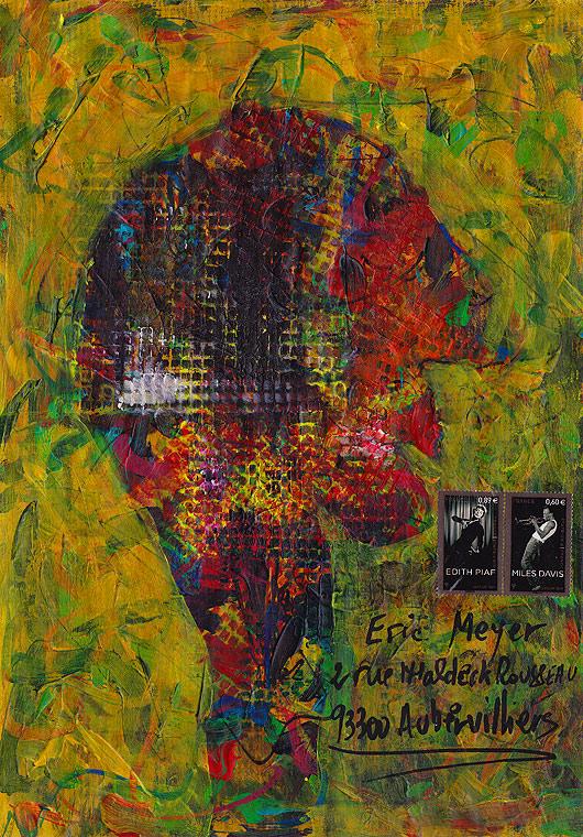eric meyer, lucien ruimy, peinture, art postal, mail art