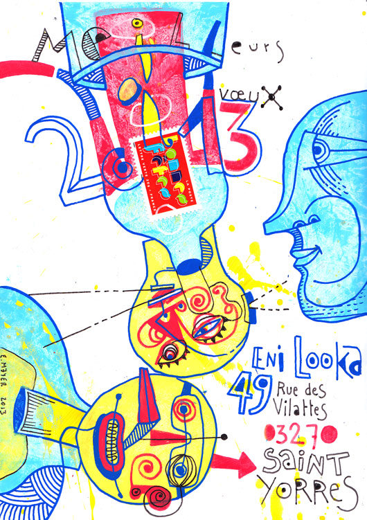 eric meyer, mail art, art postal, voeux 2013