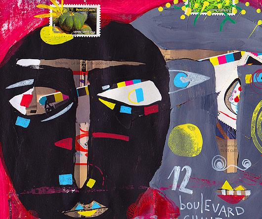 eric meyer, peinture, dessin contemporain, peinture digitale, art postal, mail art