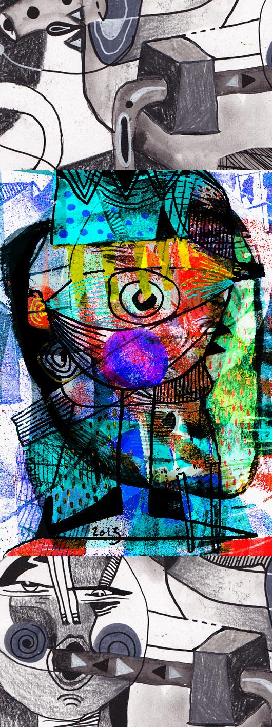 eric meyer, dessin contemporain, peinture numérique, poésie