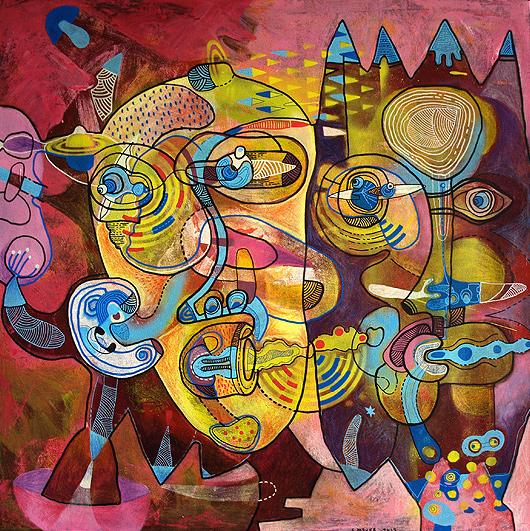 eric meyer, Eric Meyer, Peinture, art contemporain, figuration, feutres poscas
