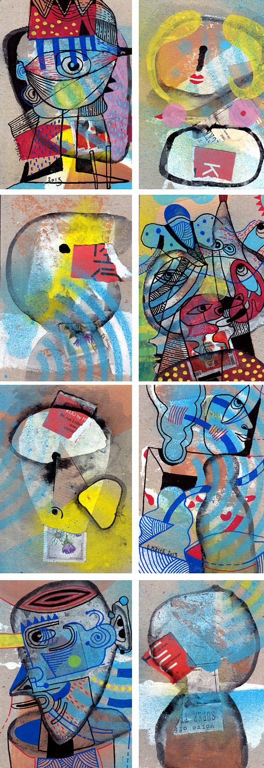eric meyer, dessins, peinture contemporaine, art contemporain, figuration, peintre