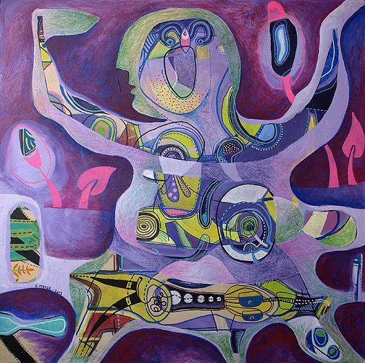 eric meyer,peinture,figuration,art contemporain,dessin contemporain,posca, neocolor