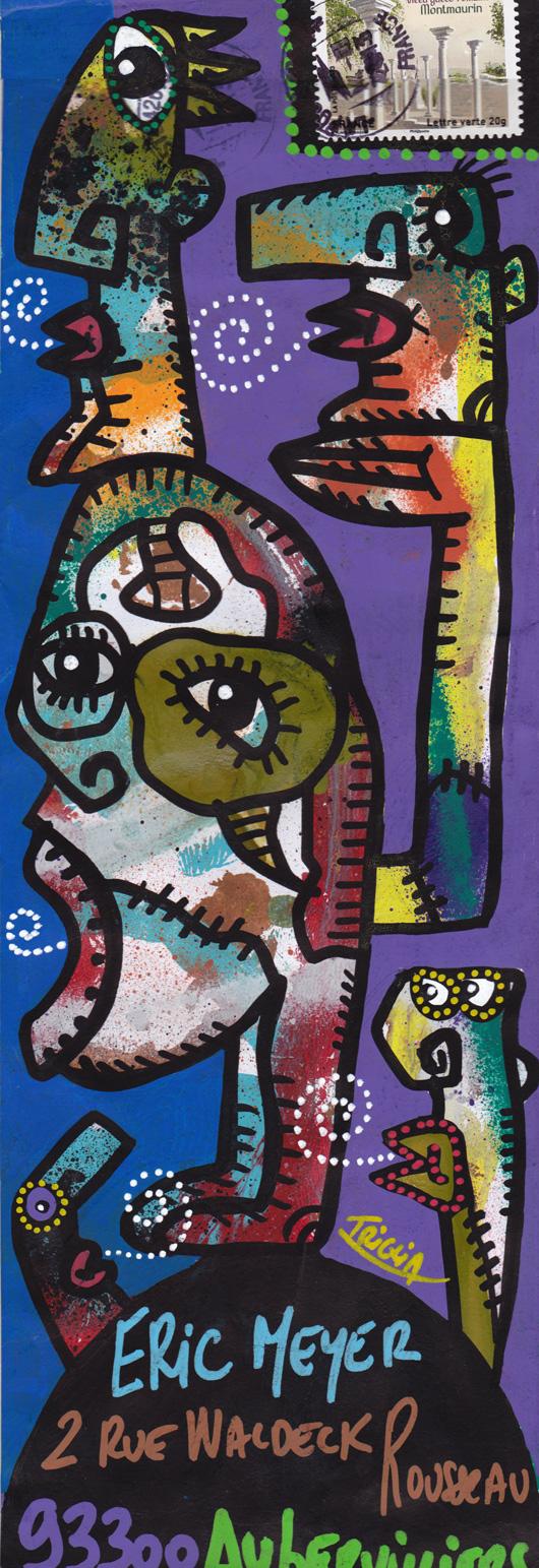 eric meyer, peintre, didier triglia, peinture, figuration, mailart, art postal