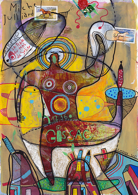 eric meyer, art postal,mailart,peinture,dessin contemporain, figuration libre