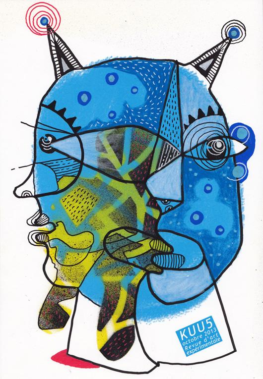 dessin contemporain, figuration libre, KUU, eric meyer, ivan sigg, revue d'art, expérimentation, laboratoire