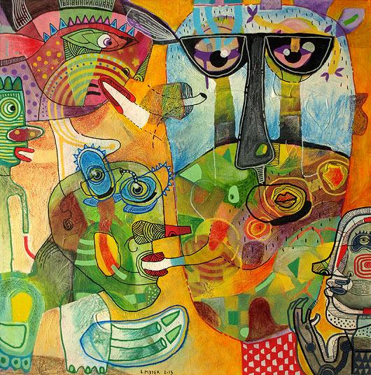 eric meyer, peinture contemporaine, figuration, feutres poscas