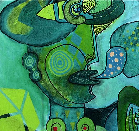 eric meyer, peinture, figuration, posca, ligne, dessin, art contemporain, libre