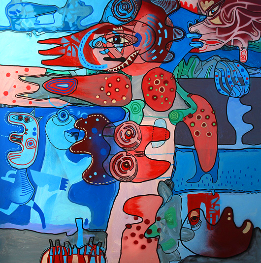 eric meyer, peinture, street art, figuration, art, brut