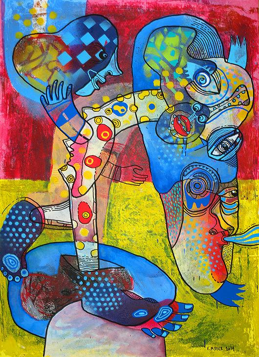 eric meyer, dessin, peinture, art, figuration