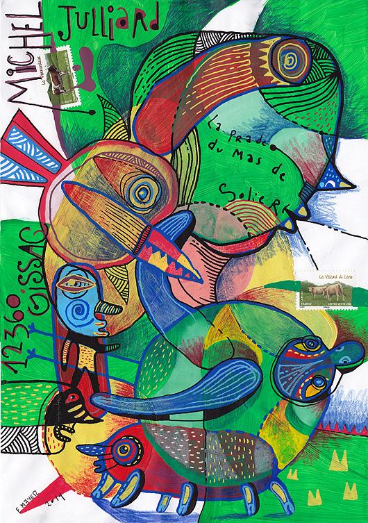 eric meyer, art postal, mail art, art timbré