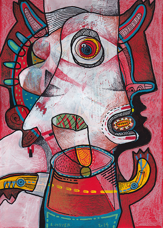 eric meyer, peintre, peinture, figuration, art, posca, couleurs