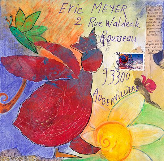 mail art, art postal, christiane berti, eric meyer
