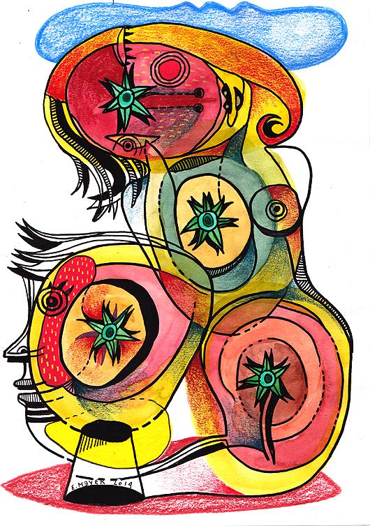eric meyer, dessin, figuration, dessin contemporain, aquarelle, photographie