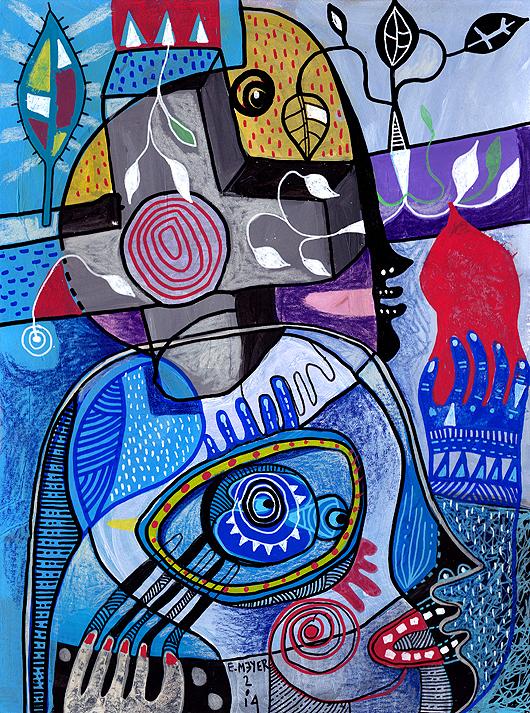 eric meyer, dessin, contemporain, figuration, libre, posca, couleurs, equinoxe