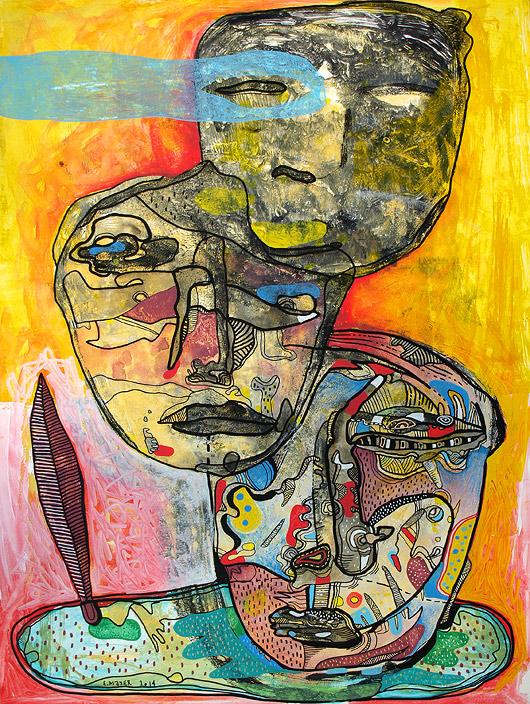 eric meyer, peintre, peinture, dessin, contemporain, figuration, libre, couleurs, brut