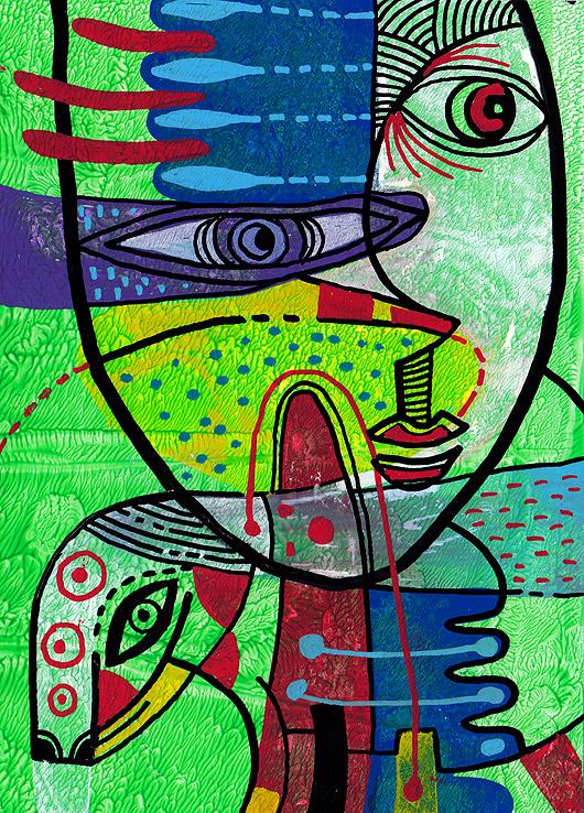 eric meyer, peintre, peinture, dessin, contemporain,figuration, libre, brut, couleurs, poscas, traits, lignes, feutres