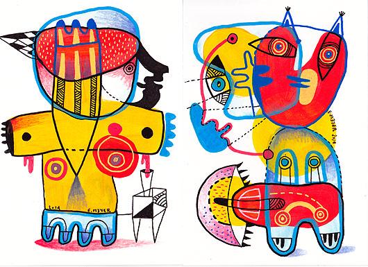 eric meyer, livre d'artiste, peintre, peinture, figuration